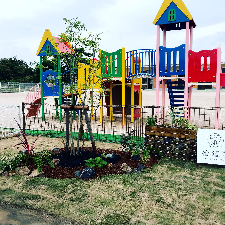 米子市  にしき幼稚園植栽