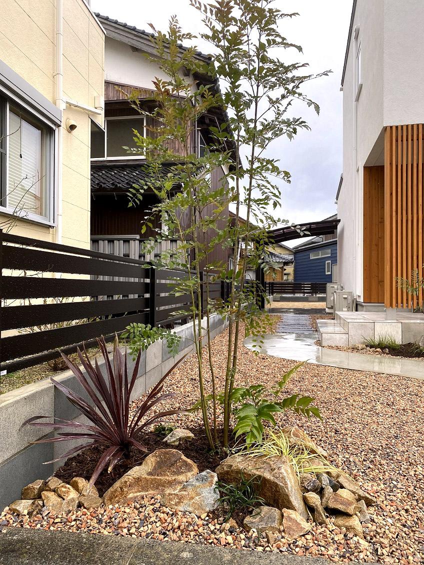 米子市 新築植栽工事